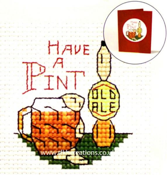 Have A Pint Card Cross Stitch Kit